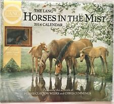 the Lang horses in the mist 2014 calendar collectible Wall Posters