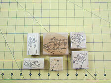 Stampin Up Winter Play Stamp Set of 6 Winter Snowman Skating Sled Mittens Snow