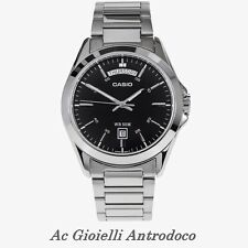 Casio Orologio da Uomo Vintage Acciaio Cassa mm 45 MTP-1370D-1A1 Nero Analogico