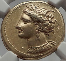 CARTHAGE Zeugitania Electrum Stater 310BC Tanit Horse Ancient Greek Coin NGC