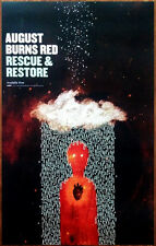 AUGUST BURNS RED Rescue & Restore Ltd Ed RARE Poster +FREE Metal Hardcore Poster