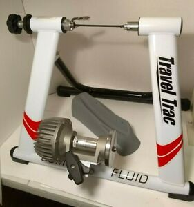 Travel Trac Comp Fluid Trainer With Front Wheel Rest, Rear Skewer Indoor Bicycle