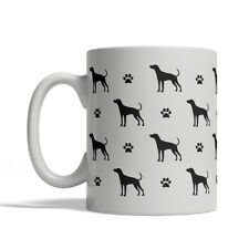 Plott Hound Dog Silhouettes Coffee Mug, Tea Cup 11 oz ceramic silhouette