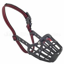 More details for ancol dog muzzle strong plastic basket style obedience - 9 sizes