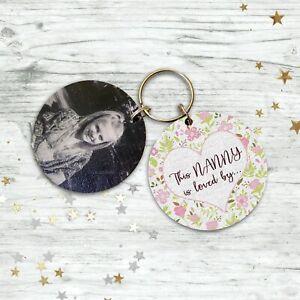 Personalised Gifts For Her Nanny Mum Mummy Nana Grandma Gran Keyring Gifts