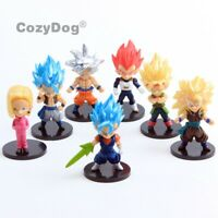 7PCS Dragon Ball Z DBZ WCF Super Saiyan Son Goku Action Figures Collectable Toy