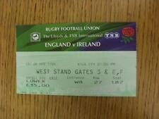 04/04/1998 Rugby Union Ticket: England v Ireland [At Twickenham] . Item in very