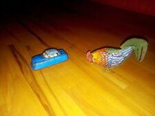 Blechspielzeug Dachbodenfund Auto blau + Hahn - Schuco? Western Germany Blech