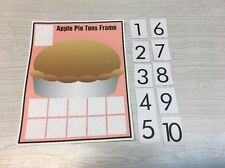 Apple Pie - Ten frame Mat Laminated Activity Set - Teaching Supplies