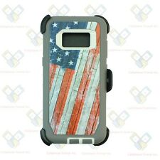 For Samsung Galaxy S8+ Plus Defender USA Flag Case Cover [Clip Fits Otterbox]