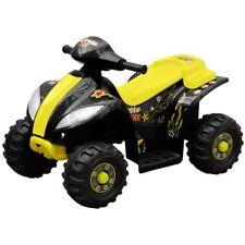 Mini moto mini quad elettrica a batteria per bambini colore giallo e nero