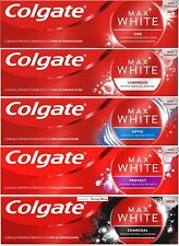 Colgate Max White Whitening Toothpaste 75ml(One/Optic/Luminous/Protect/Charcoal)