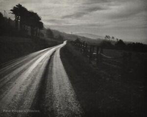 1950s Vintage ANSEL ADAMS Northern California Road Landscape Photo Engraving Art
