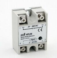 10pcs SSR-40DA 40A Solid State Relay Module 3-32V DC Input 24-380VAC
