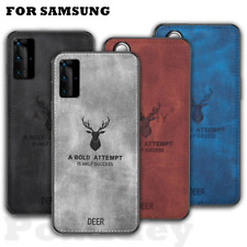 For Samsung Galaxy A52 A72 A32 S21 S20 FE Deer Pattern Hybrid Leather Case Cover