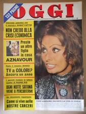 OGGI n°17 1971 Sofia Loren Charles Aznavour Speciale Carceri [C57A]