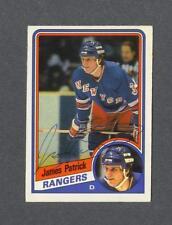 James Patrick signed New York Rangers 1984-85 Opee Chee rookie hockey card