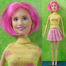 "Disney 11.5"" HANNAH MONTANA LOLA Doll  Miley Cyrus Pink Hair VERY RARE Celebrity"