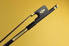 6pcs New high class black Carbon fiber viola bow Ebony Frog professional bow