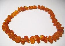 19cm 7.5 inch. long Raw baltic amber anklet bracelet.