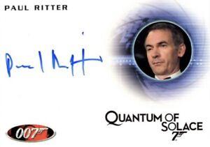 James Bond Heroes & Villains Autograph Card, A137 Paul Ritter as Guy Haines QofS