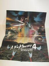 FREDDY KRUGER NIGHTMARE ON ELM STREET 4 THE DREAM MASTER PROMO MOVIE POSTER 1988