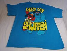 "Vintage Sesame Street  ""Everyday I'm Shufflin'' Men's T-shirt Size XL"