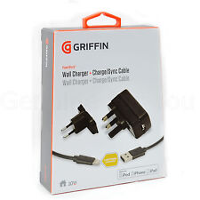 Griffin 2.1ap Cargador de Red pared + CABLE LUZ PARA IPHONE x /8/7 / 6s/5/5s