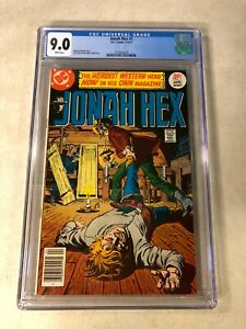 Jonah Hex #1 CGC 9.0 VF/NM KEY ISSUE WEIRD WESTERN HERO 1977 DC WHITE PAGES