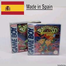 10x FUNDA Cajas  PROTECTORAS CAJAS CARTUCHOS GAME BOY GBC GBC GBA NINTENDO