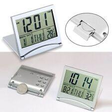New Desk Travel Digital LCD Thermometer Calendar Alarm Clock flexible cover