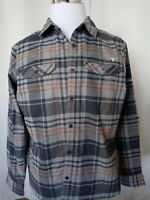 Men's Columbia Texas Longhorns plaid Long Sleeve Shirt Size XL Perfect Condition