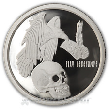 Silver Shield 1oz .999 Silver 2018 Death Dollar Fiat Nevermore PROOF COA & Box!