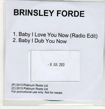 (EP106) Brinsley Forde, Baby I Love You Now - 2013 DJ CD