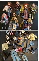Bratz Collectors Lot 7 Dolls, Outfits & Extras,  Accessories, PS2 Game, And CD