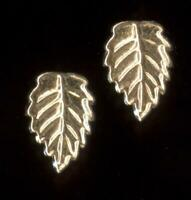 14K 7mm Solid Yellow Gold Leaf Leaves Petal Plant Accent Stud Earrings Lot GF