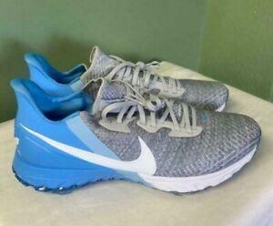 Men's Nike Air Zoom Infinity Tour Golf Grey Blue Comfort Rare CZ8300-002 Size 14