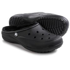 Crocs Freesail Black Lined Clog (Women's) Size 8M Medium NWT FREE USA SHIPPING