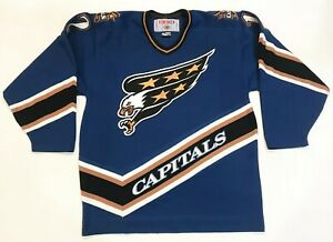 CCM Washington Capitals BONDRA #12 NHL Hockey Jersey Men L Blue Canada Sewn