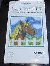 "Wonderart Latch Hook Rug Kit Caron Pony Horse # 4714 12""X12"