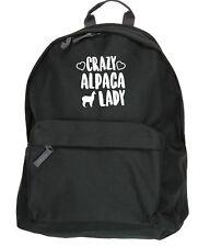 Crazy alpaca lady backpack ruck sack Size: 31x42x21cm