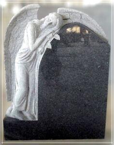 Grabstein,Granit Grabstein mit stehendem Engel B, 60x18x90cm,China Impala, NEU!!