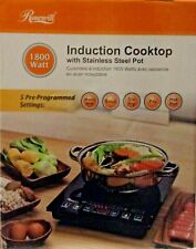 1800W 5 Pre Programmed Settings Induction Cooker Cooktop electric Stove with Pot