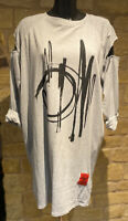 Designed & Made In Italy Natural Product Ladies cotton tunic dress top1Size8-18