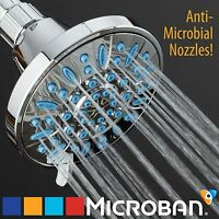AquaDance® Antimicrobial 6-settings Luxury High Pressure Shower Head w/Microban®