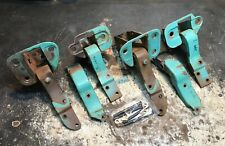 1955 CADILLAC 2/D H/T FRONT DOOR HINGES / SUPPORTS / PIN KIT A+ (OEM USED SET)