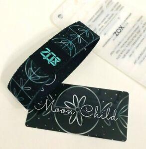 ZOX **MOON CHILD* Blue BLOG Strap smaller NIP Wristband w/Card