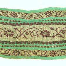 3m (10 foot) LONG Old Antique India SARI Saree TRIM Embroidered Textile 652r9