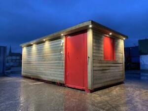21ft x 9ft Cladded Shipping Container Office with Canopy (Manchester)