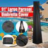 91'' Outdoor Garden Market Patio Umbrella Canopy Waterproof Protector Cover Bag